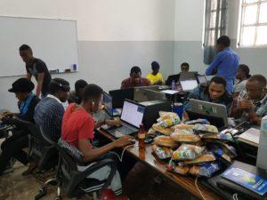 sprint de codage organisé pat itot africa en partenariat avec wikisuite